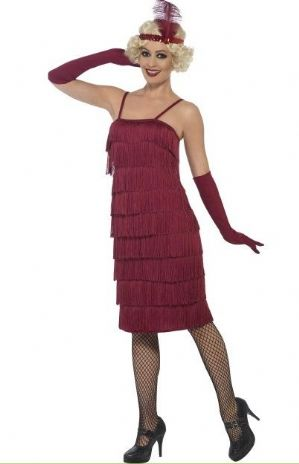 20's Flapper Plus Size Costume Red (45501)